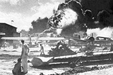New 5x7 World War II Photo: Captured Japanese Photo Taken During Pearl Harbor