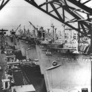 New 5x7 World War II Photo: Victory Cargo Ships Line for Final Outfitting