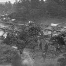 New 5x7 Civil War Photo: Pontoon Bridge over the Pamunkey River at Hanovertown
