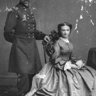 New 5x7 Civil War Photo: Union - Federal General George Armstrong Custer & Wife