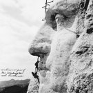 New 5x7 Photo: Working on Washington's Face on Mount Rushmore, South Dakota