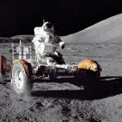 New 5x7 NASA Photo: Eugene Cernan Driving Lunar Rover on Moon
