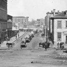 New 5x7 Civil War Photo: Wagon Train Down Whitehall Street in Atlanta, Georgia