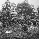 New 5x7 Civil War Photo: Behind Breastworks on Little Round Top, Gettysburg