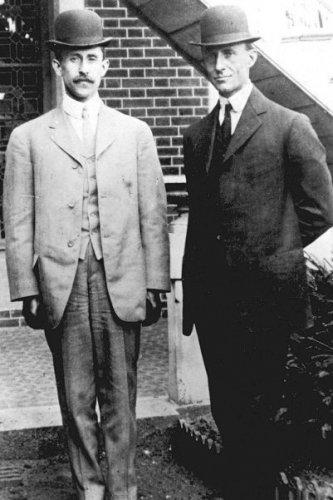 New 5x7 Photo: Orville & Wilbur Wright, Aviation Flight Pioneers