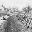 New 5x7 Civil War Photo: Stacked Federal Rifles at Petersburg, Virginia