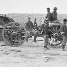 New 5x7 Civil War Photo: Federal Soldiers Removing Confederate Artillery