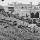 New 5x7 Civil War Photo: Locomotive Railroad Depot in Nashville, Tennessee