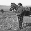 New 5x7 Civil War Photo: Cavalry Orderly on Antietam - Sharpsburg Battlefield