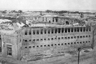 New 5x7 Civil War Photo: Damage at Fort Morgan in Mobile, Alabama