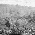 New 5x7 Civil War Photo: Round Top & Slaughter Pen from Devils Den, Gettysburg