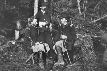 New 5x7 Civil War Photo: Lieutenants George Custer, Nicolas Bowen, William Jones