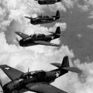 New 5x7 World War II Photo: TBF Avengers Flying in Formation, 1942