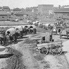 New 5x7 Civil War Photo: Federal Army Wagons at Depot in Atlanta