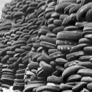 New 5x7 World War II Photo: Tires Piled, Rubber for use in the War Effort