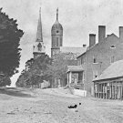 New 5x7 Civil War Photo: Street View in Fredericksburg, Church and Courthouse