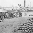 New 5x7 Civil War Photo: Federal Soldiers Boarding Boats at Yorktown, Virginia