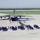 New 5x7 NASA Photo: Hearses Lined for Space Shuttle Challenger Astronauts, 1986