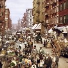 New 5x7 Photo: Mulberry Street in New York City, 1900