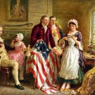 13x19 Poster: George Washington with Betsy Ross Making Flag of the United States