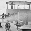 New 5x7 Civil War Photo: Sailors on Deck of USS MONITOR, James River in Virginia