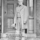 New 8x10 Civil War Photo: Confederate General Robert E. Lee with Famous Quote