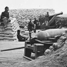 New 5x7 Civil War Photo: Federal Soldiers in Confederate Battery at Yorktown