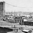 New 5x7 Photo: Brooklyn Bridge Construction over East River, New York City