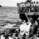 New 5x7 World War II Photo: Burial at Sea of USS LISCOME BAY Casualties