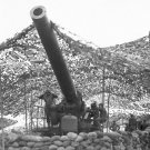 New 5x7 World War II Photo: Gun of Battery B 697th Field Artillery in Italy