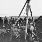 New 5x7 Civil War Photo: Removing Columbiad Gun from Fort McAllister