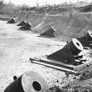 "New 5x7 Civil War Photo: 13"" Mortars of Battery No. 4 at Yorktown, Virginia"
