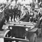 New 5x7 World War II Photo: U.S. President Franklin D. Roosevelt Reviews Troops