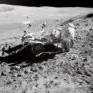 New 5x7 Photo: Astronaut John W. Young in Apollo 16 Lunar Rover on the Moon