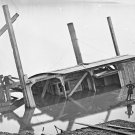 New 5x7 Civil War Photo: Butler's Dredge-Boat on the James River, Sunk By CSA