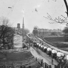 New 5x7 Civil War Photo: Federal Army Wagons Enter Petersburg, 1865