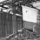 New 5x7 Photo: Sister Ships OLYMPIC and TITANIC During Construction, Belfast