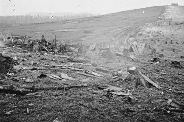 New 5x7 Civil War Photo: Federal Line at the Battle of Nashville, Tennessee