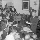New 5x7 World War II Photo: Harry Truman Announces Japanese Surrender, 1945