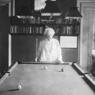 New 5x7 Photo: Author Mark Twain (Samuel Clemens) by Pool Table