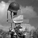 New 5x7 World War II Photo: Tribute to an American Soldierin Carentan, France