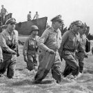 New 5x7 World War II Photo: General Douglas MacArthur Wades to Leyte Shore
