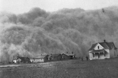 New 5x7 Photo: The Dust Bowl - Dust Storm in Stratford, Texas