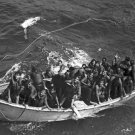 New 5x7 World War II Photo: Survivors of USS PRINCETON adrift in Life Boat