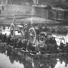 New 5x7 Civil War Photo: Artillery, Gunners and Infantry Cross River on Raft