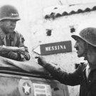 New 5x7 World War II Photo: George Patton & Lyle Bernard of the 30th Infantry
