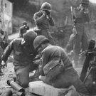 New 5x7 World War II Photo: U.S. Soldiers Across the Rhine River in Germany
