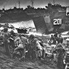 New 5x7 World War II Photo: Landing Craft Brings Invasion Supplies to Iwo Jima