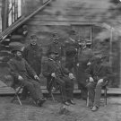 New 5x7 Civil War Photo: Group of Union Officers & Men at Brandy Station, 1864