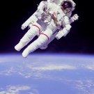 New 5x7 NASA Photo: McCandless on Spacewalk (EVA) with Jet Propel Backpack